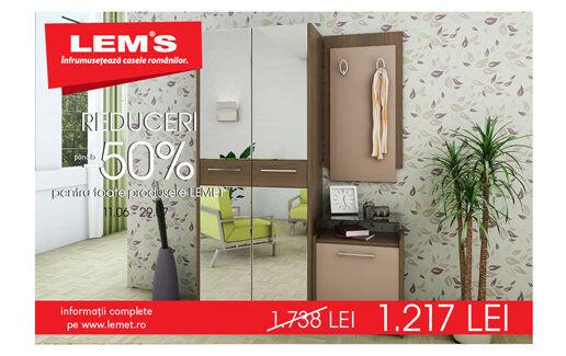 Reduceri de pana la 50% la mobilier