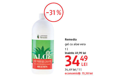 Remedia gel la 34.49 lei