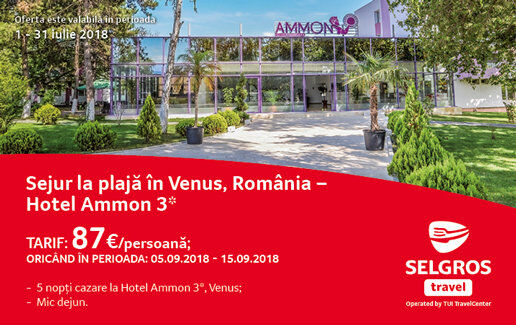 Sejur la plaja in Venus, Romania - Hotel Ammon 3*
