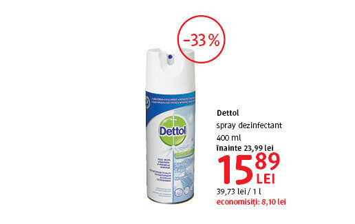 Spray dezinfectant la 15.89 lei