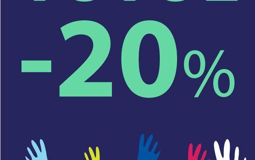 Totul cu 20% reducere