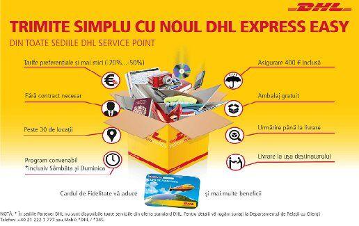 Trimite SIMPLU cu noul DHL Express Easy