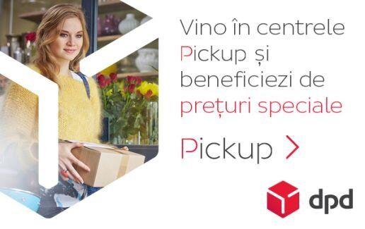Trimite coletul prin centrele Pickup, ai preturi speciale!