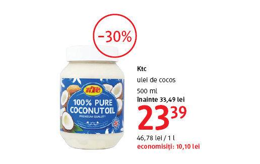 Ulei de cocos la 23.39 lei