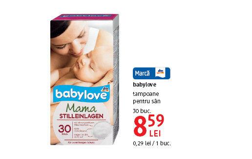 babylove - tampoane pentru sani la 8.59 lei