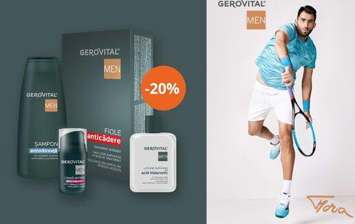 -20% la min 2 produse Gerovital MEN