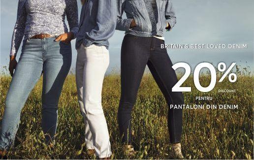 -20% la pantaloni din denim