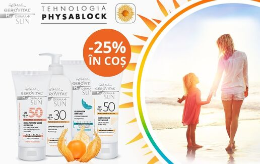 -25% la Gerovital Derma + Sun Expert @Farmec