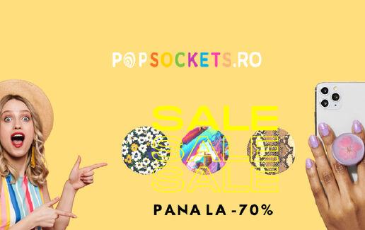 Până la 70% pe PopSockets