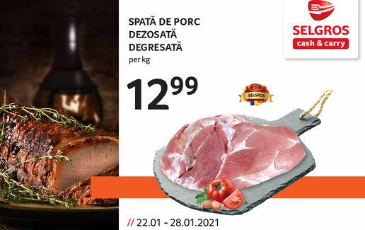 Spată de porc preţ special